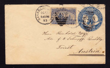 U348 San Francisco, CA to TRIEST 1893 w/4c Columbian