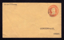 U10 Pre-Printed RETURN Bank Envelope, Cincinnati, OH