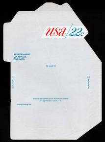 UC50, UPSS #ALS-16 22c USA Blue, Mint, UNFOLDOVER