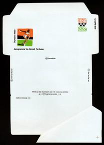 UC52, UPSS #ALS-18 22c 1980 Olympics, Mint, FOLDOVER