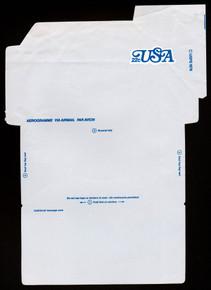 UC51, UPSS #ALS-17 22c USA Blue, Mint, FOLDOVER