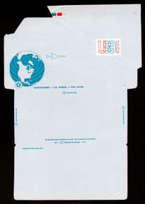 UC48, UPSS #ALS-14 18c Globe & Plane, Mint, FOLDOVER with +