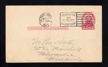 UX33 UPSS# S45-46, Detroit 2nd Die Surcharge, USED Postal Card