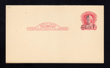 UY9r UPSS# R16-7c Detroit Surcharge, Mint, Reply Card, DOUBLED