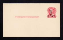 UY10m UPSS# M17 Revalued 1c Press Printed on 2c Washington (UY8) Mint MESSAGE Card
