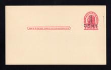 UX32 UPSS# S44-5, Brooklyn Surcharge, Mint Postal Card, Tone line on back