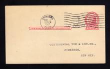 UX32 UPSS# S44-13, Denver Surcharge, Used Postal Card