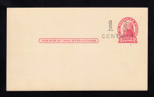 UX33 UPSS# S45-4, Boston Surcharge, Mint Postal Card, Additional Surcharge near Stamp