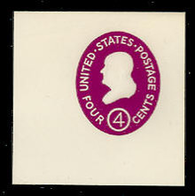 U536b 4c Franklin, Red Violet, die 3, Mint Full Corner