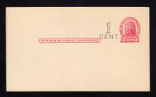 UX32 UPSS# S44-13, Denver Surcharge, Mint Postal Card, Surcharge left of Stamp