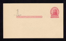 UX32 UPSS# S44-32, Omaha Surcharge, Mint Postal Card, Surcharge at Left