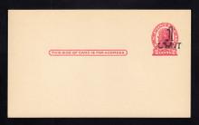 UX32 UPSS# S44-38, St. Paul Surcharge, Mint Postal Card, Damaged Die