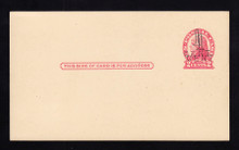 UX33 UPSS# S45-4b, Boston DOUBLE Surcharge, Mint Postal Card