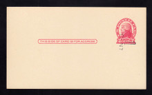UX33 UPSS# S45-34, Pittsburgh Surcharge, Mint Postal Card, HORIZONTAL Surcharge