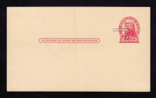 UX33 UPSS# S45-36, Pueblo Surcharge, Mint Postal Card, HORIZONTAL Surcharge