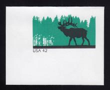 U663 42c Elk, Mint Full Corner
