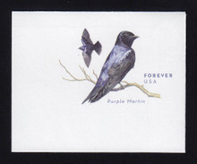 U677 (45c) Purple Martin, Small Design, Mint Full Corner