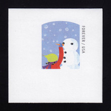 U688 (49c) Child Making Snowman, Mint Full Corner