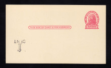 UX32 UPSS# S44-14f, Des Moines Surcharge Inverted LL, Mint Postal Card