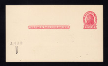 UX32 UPSS# S44-9f, Chicago Surcharge Inverted LL, Clean Face Postal Card