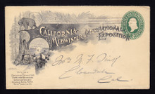 U311 UPSS# 928-8 California Midwinter International Exposition