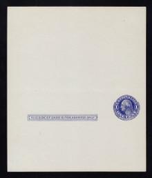 UY5 UPSS# MR8 Sep 2, 1c Washington, blue on blue Mint UNFOLDED