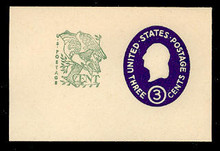 U540b 3c + 1c Washington, Dark Violet, die 4, Mint Full Corner