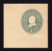 U356 1c Green on Manila, Mint Full Corner, 50 x 50