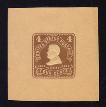 W392 4c Chocolate on Manila, Mint Large Cut Square