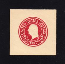 U429b 2c Carmine on White, die 3, Mint Cut Square, 41 x 41