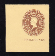 Philippines: U12 4c on Amber, Mint Cut Square, 45 x 50