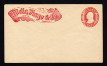 "U9 UPSS # 15 3c Red on White, Mint Entire, ""Wells Fargo/Omaha-NT"", RARE"