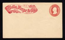 "U9 UPSS # 15 3c Red on White, Mint Entire, ""Wells Fargo/Omaha-NT"", RARE"