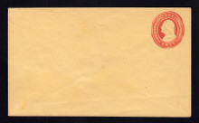 U2 UPSS # 3 3c Red on Buff, die 1, Minte Entire, Light Bend at bottom