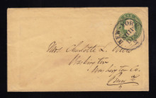 U14 UPSS # 22 6c Green on Buff, Used Entire, New York SHIP, CA to PA