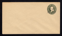 U514 UPSS # 3205-21 1 1/2c on 1c Green on Manila, die 1, Mint Entire