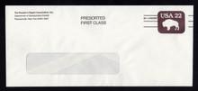 U608a UPSS# 3704 22c Brown Precanceled Entire, Reader's Digest Zip+4