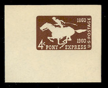 U543 4c Pony Express, Mint Full Corner