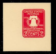 U522a 2c Sesquicentennial, Carmine, die 2 , Mint Full Corner
