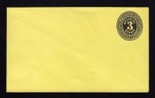 UO2 UPSS# PD8 3c Black on Lemon, Mint Entire, No Printing
