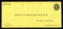UO12 UPSS# PD58-4 6c Black on Lemon, Mint Entire