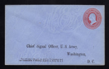 UO54 UPSS# WD93b-5 3c Red on Blue, Minte Entire, Printed Address