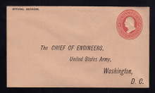 UO55 UPSS# WD95-5 3c Red on Buff, Minte Entire, Printed Address