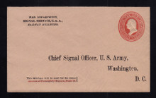 UO55 UPSS# WD97-2 3c Red on Buff, Minte Entire, Printed Address
