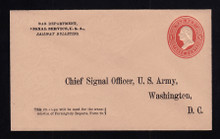 UO55 UPSS# WD97-5 3c Red on Buff, Minte Entire, Printed Address