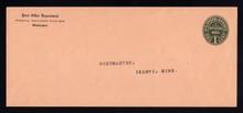 UO71 UPSS# OM3 1c Green on Oriental Buff, Mint Entire, Typed Address