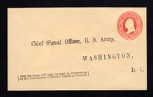 UO36 UPSS# WD33 3c Vermillion on Cream, Mint Entire, Printed Address