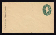 U309 UPSS# 921 2c Green on Manila, die 1, Mint Entire, 2006 PF Certificate, RARE