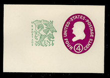 U545a 4c + 1c Franklin, Red Violet, type 2, Mint Full Corner