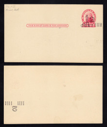 UX33 UPSS# S45-37, St Louis Surcharge, w/Type 3 Envelope Surcharge F & B